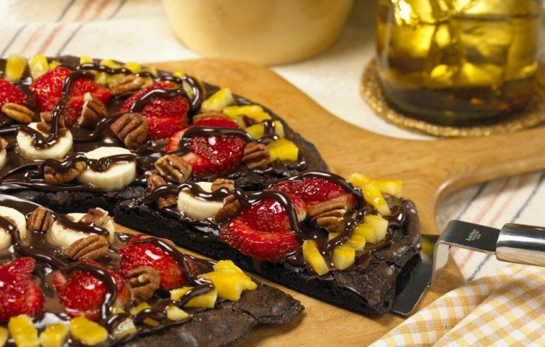 Шоколадная пицца. Пошаговый рецепт