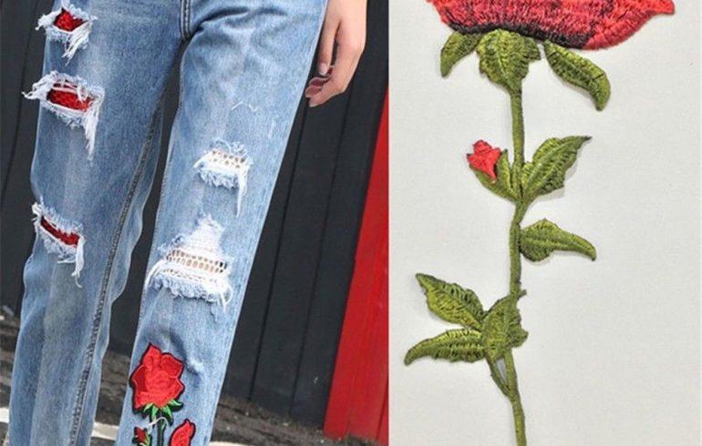 Одежда как новая: изъяны маскируют аппликации