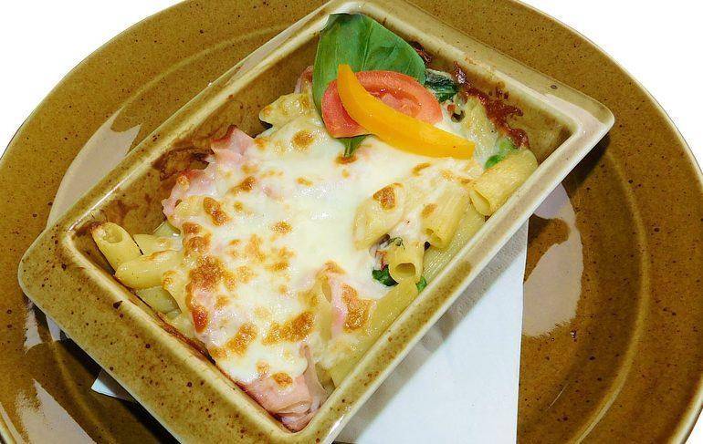 рецепт, макароны, сыр, колбаса, запеканка