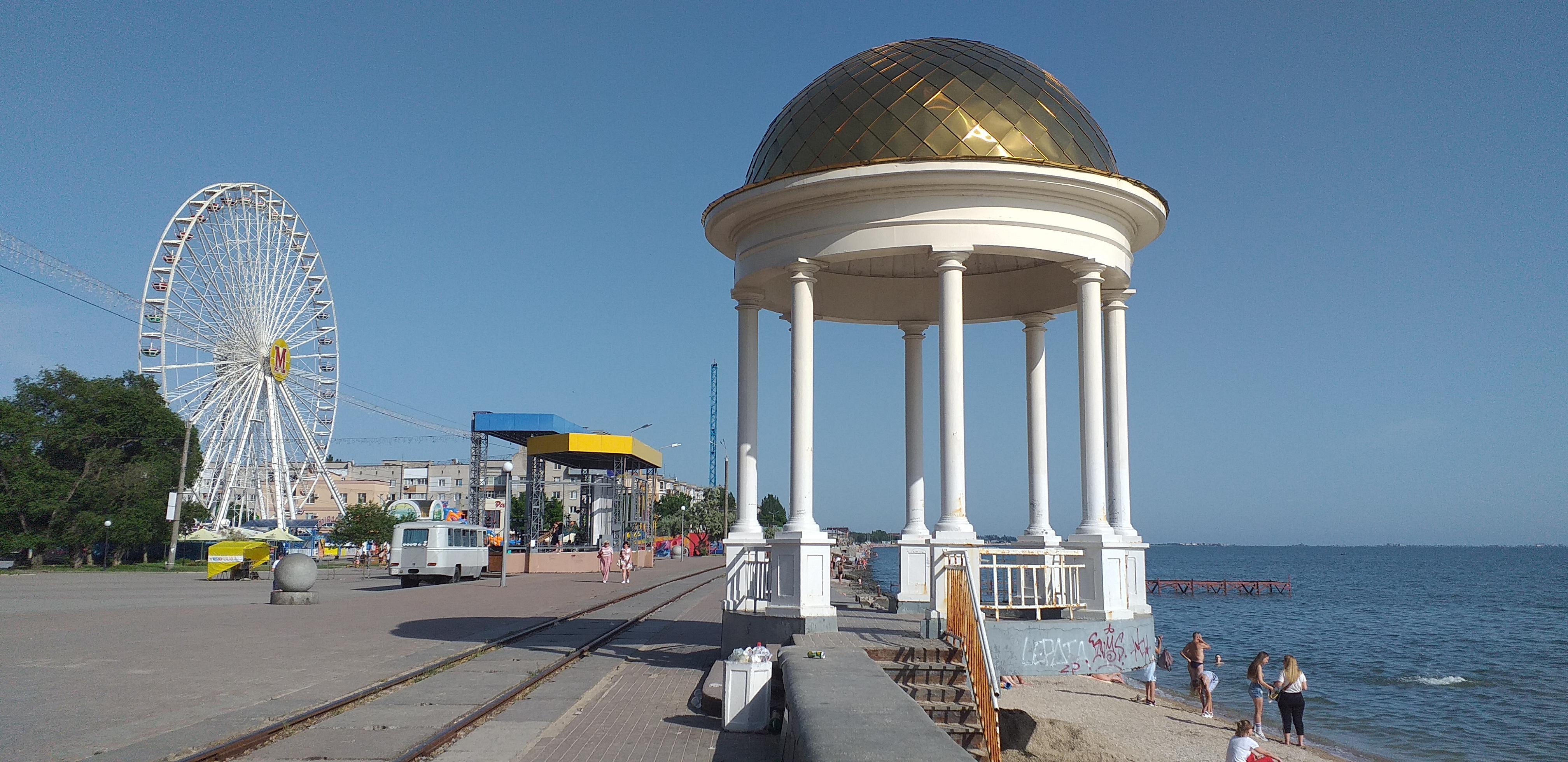 ротонда на Приморской площади в Бердянске