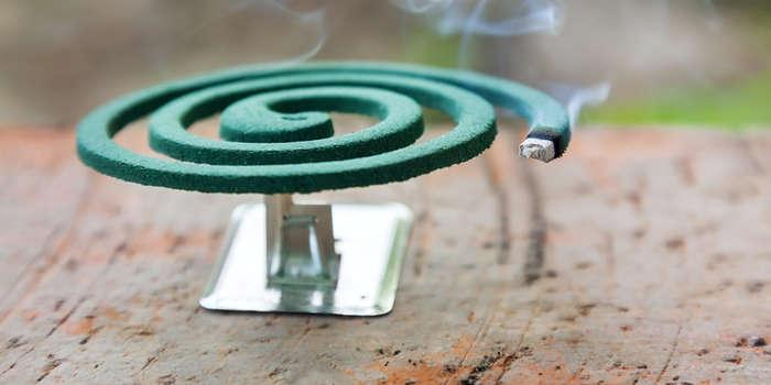 как защититься от комаров при помощи спирали