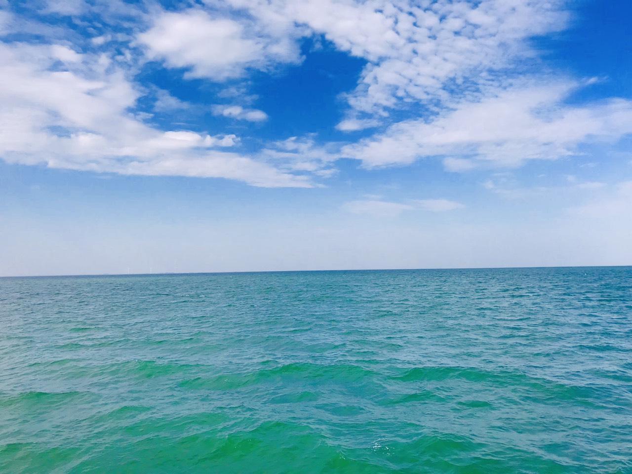 морской пейзаж на острове Джарылгач