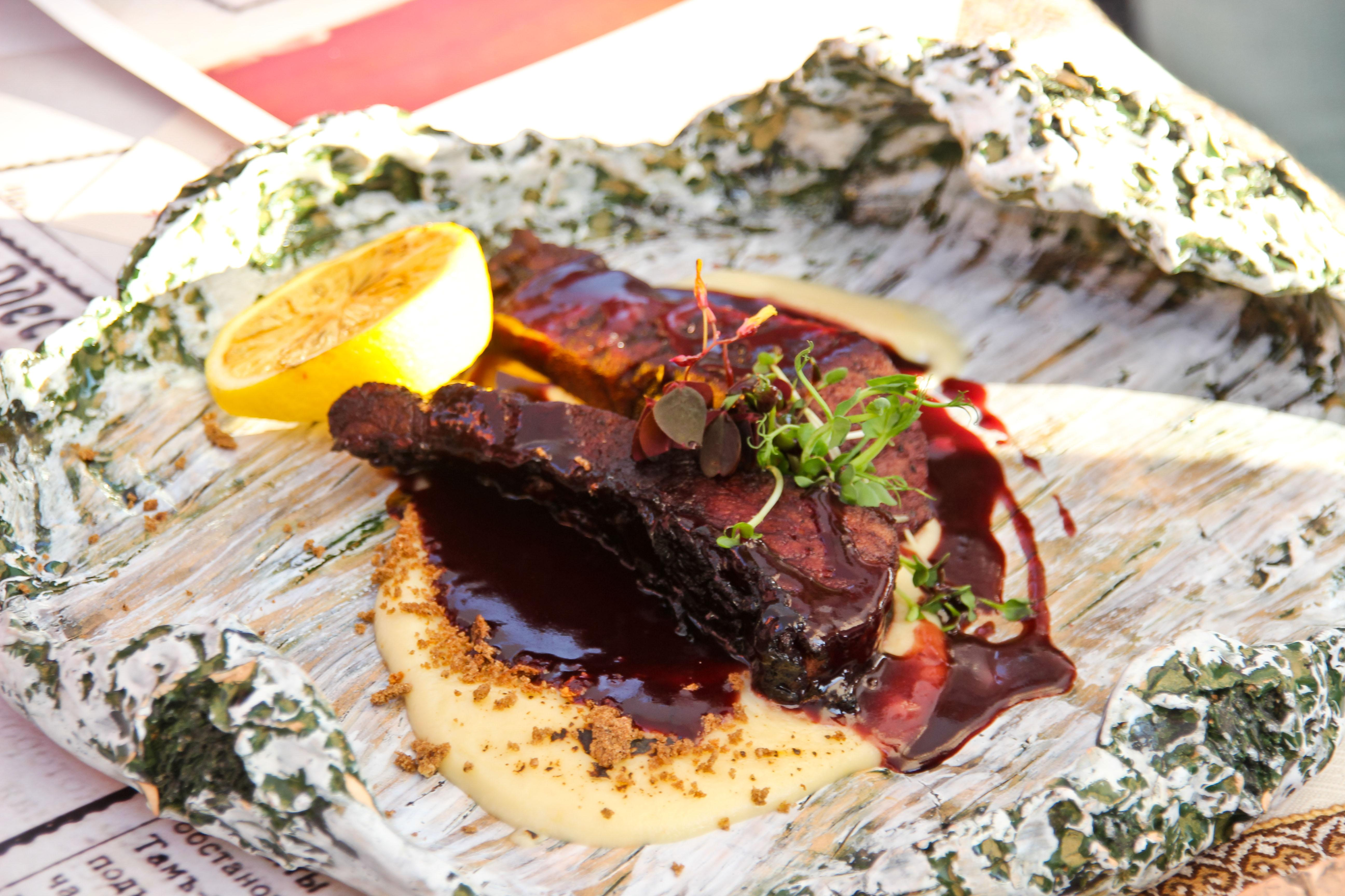 винтажная кухня Херсона блюдо карп в вине