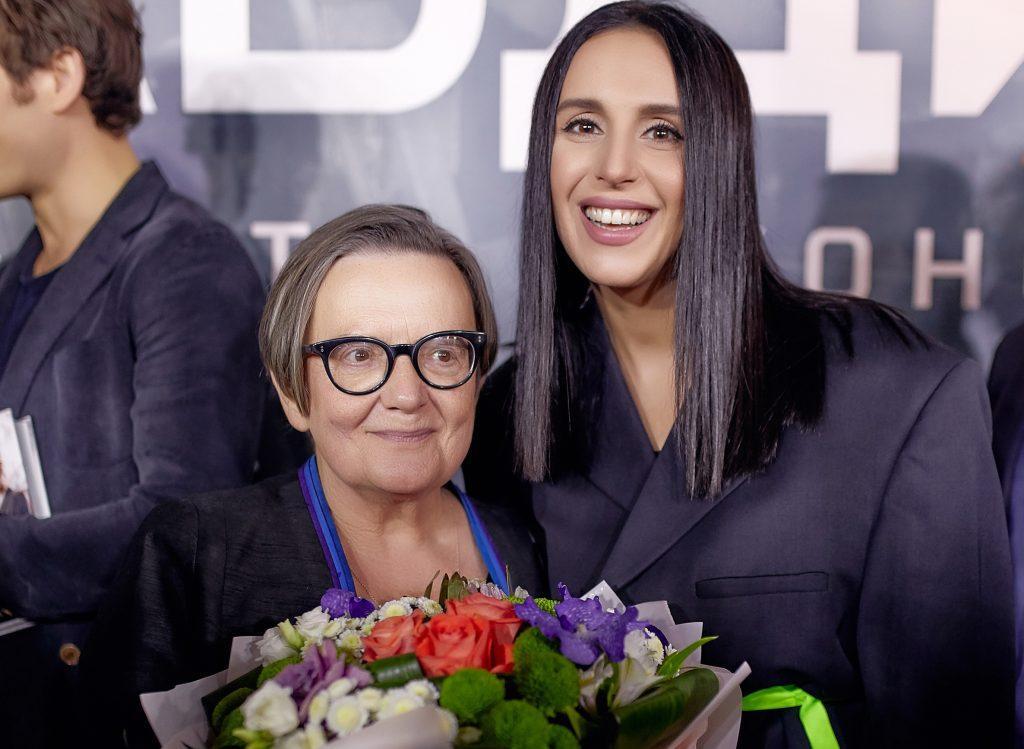 Джамала и Агнешка Голланд на премьере фильма Цена правды