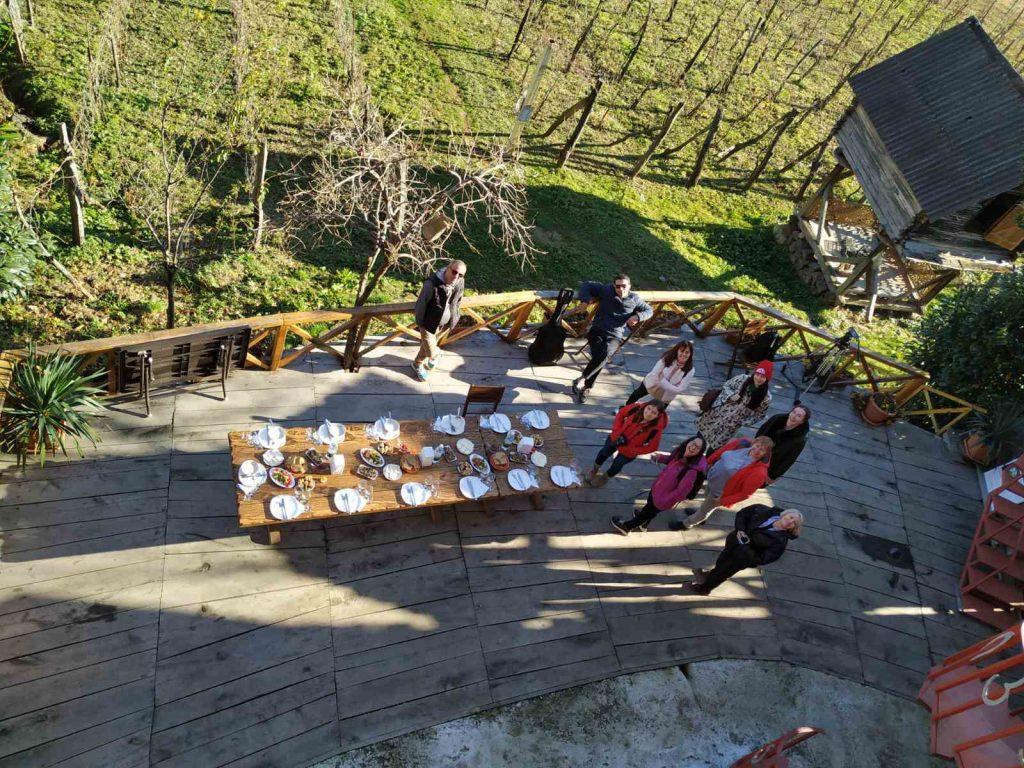 усадьба аджарского винодела Нодара Шервашидзе в горном селе