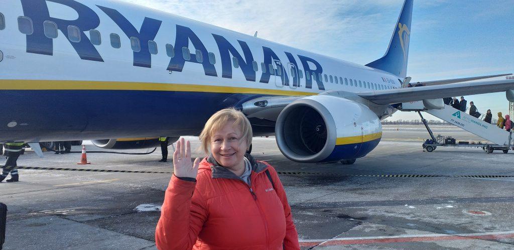 перед полетом в Валенсию с лоукостом Ryanair