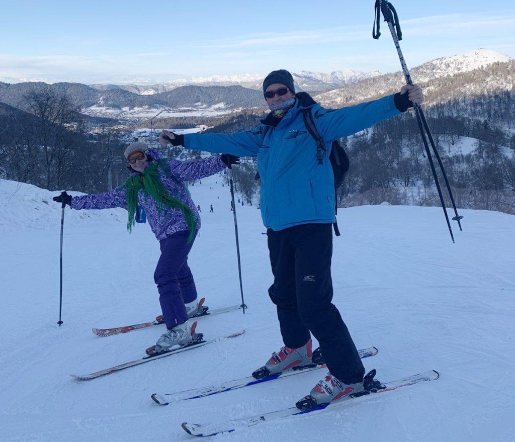 на лыжных трассах в Бакуриани