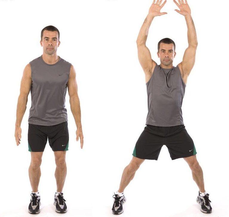 Разогревающие прыжки упражнения
