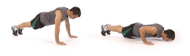 упражнения для мужчин отжимания