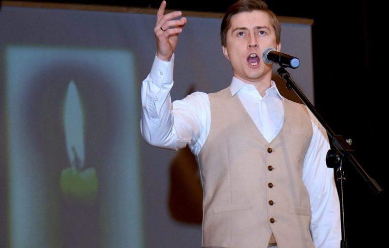 Дмитрий Воронов на сцене Карнеги Холл