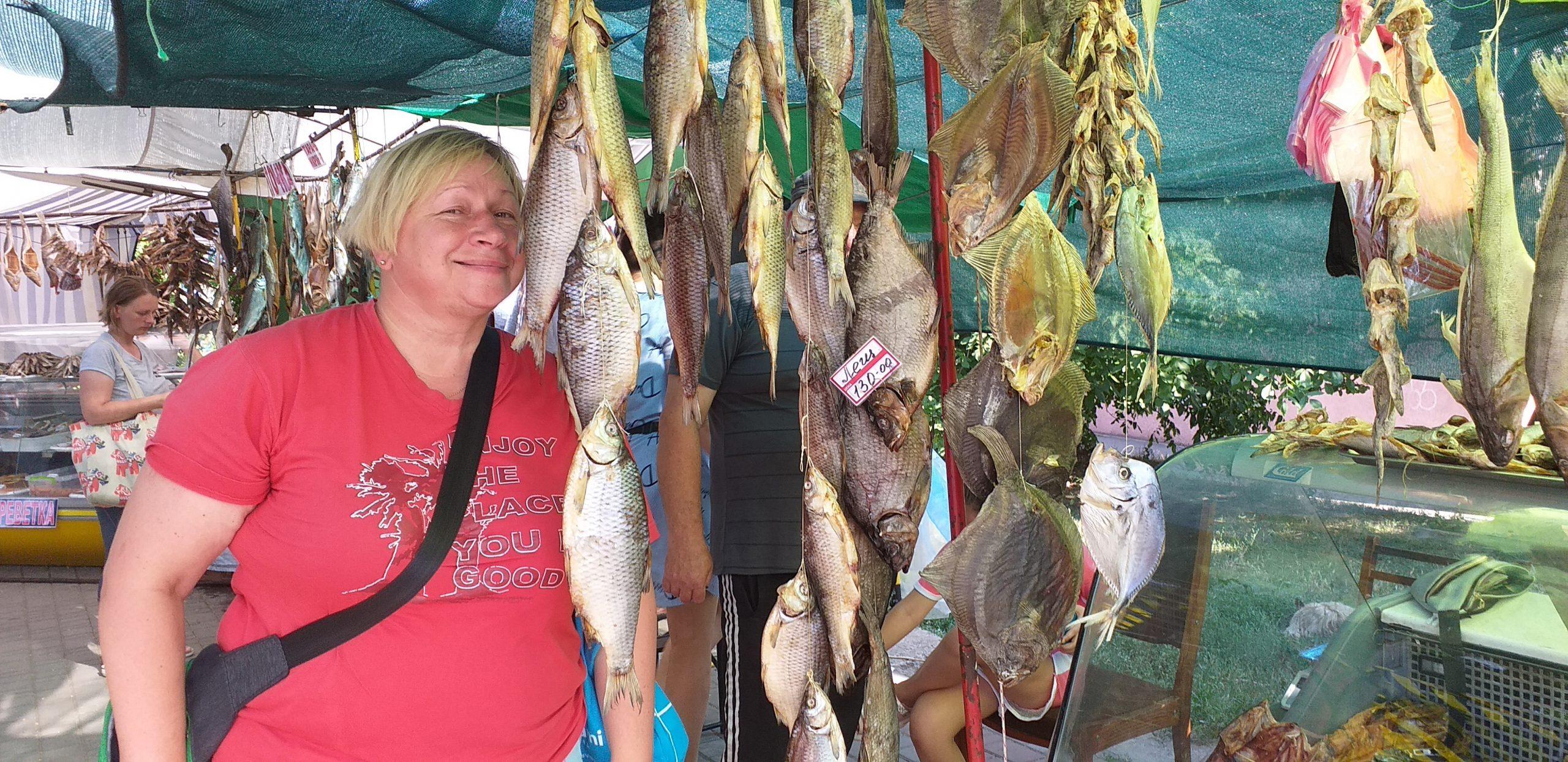 рыбный рынок в городе Бердянск