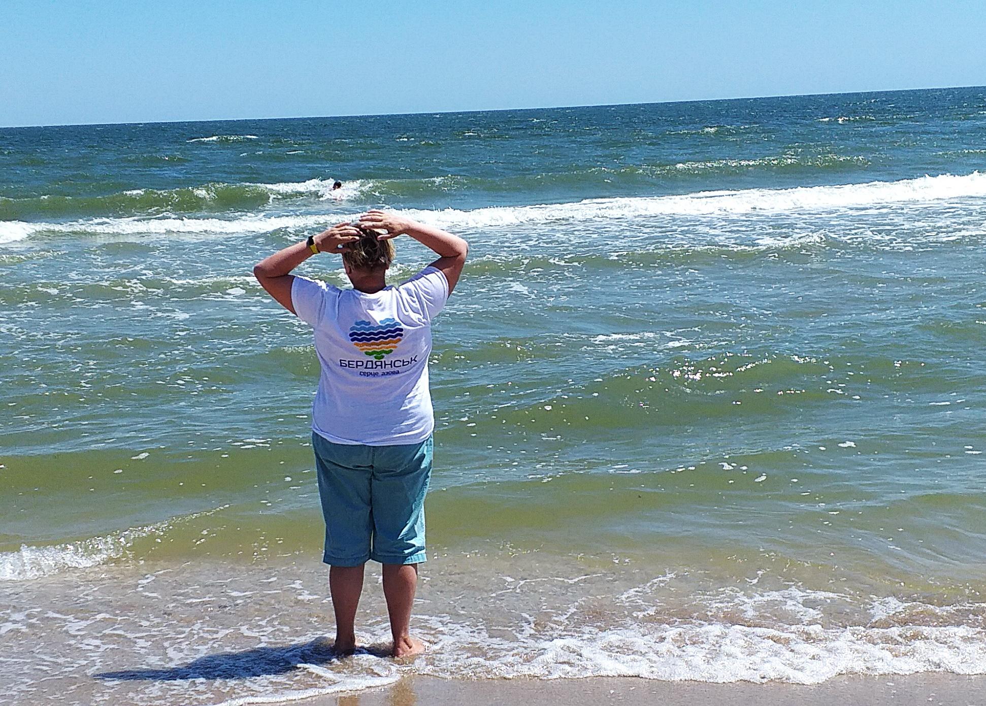 на пляже Бердянской косы