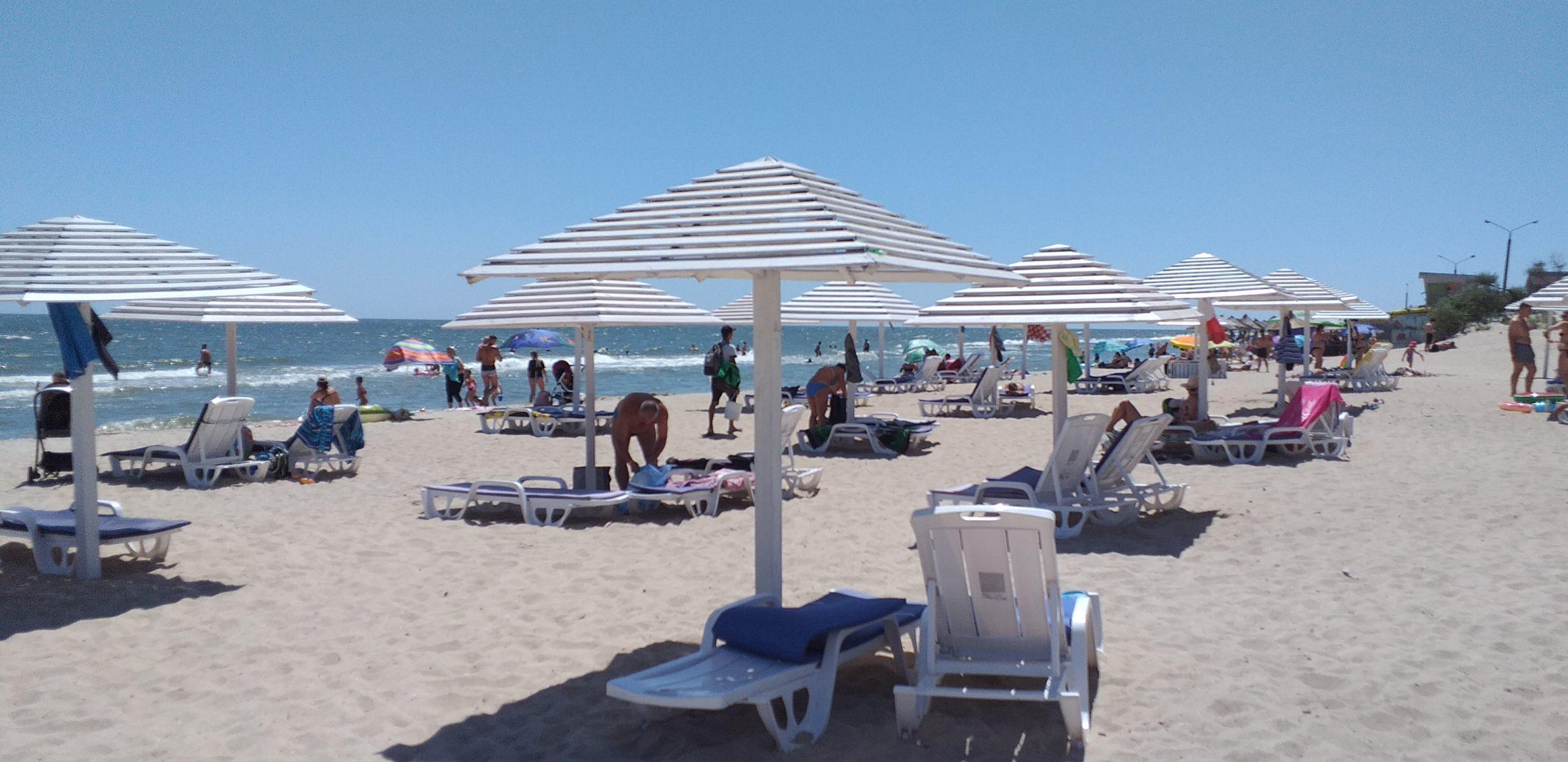 пляж возле отеля Бриз в Бердянске