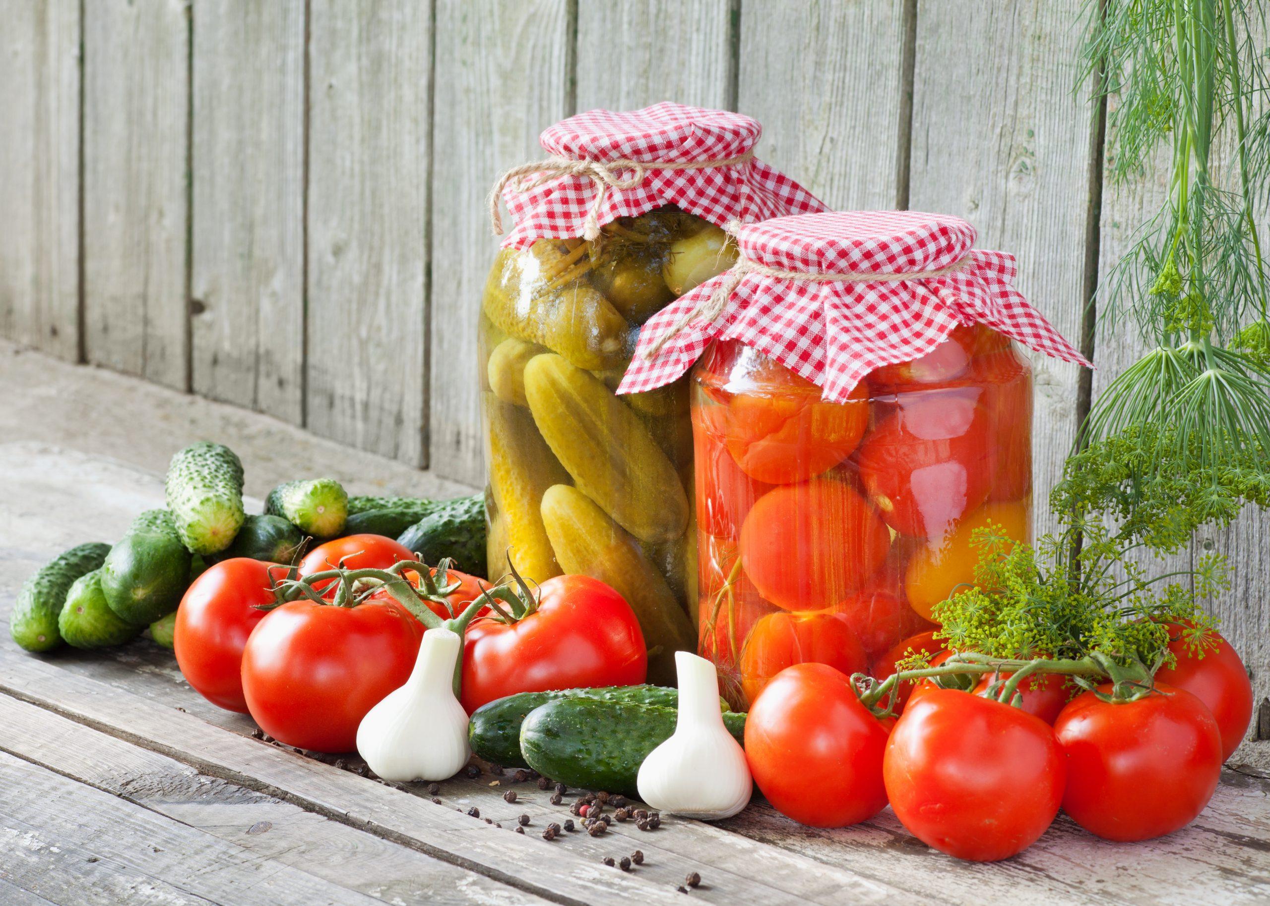консервация овощей в банках