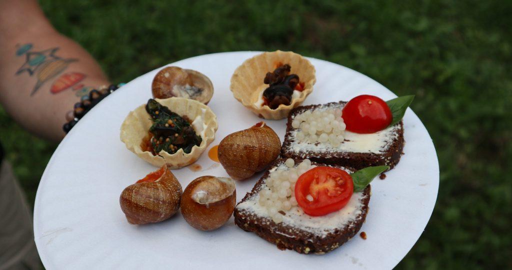 блюда из улиток и икры