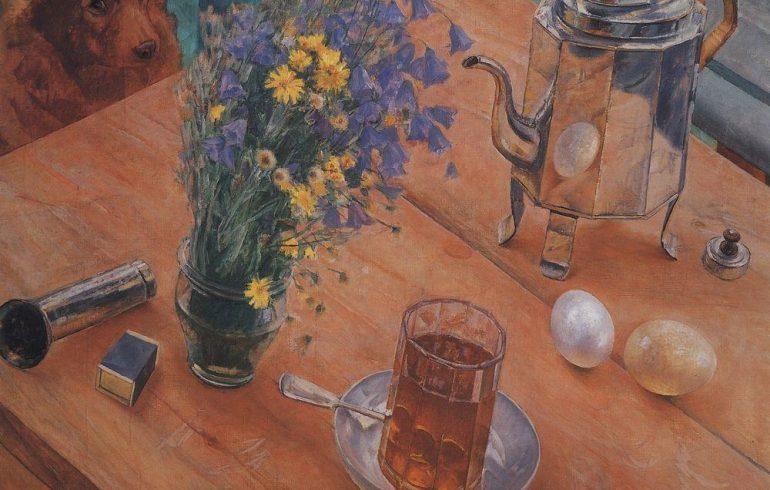 граненый стакан на картине петрова-водкина
