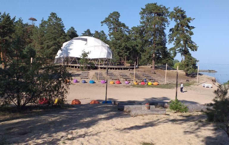 белый купол в Event Park