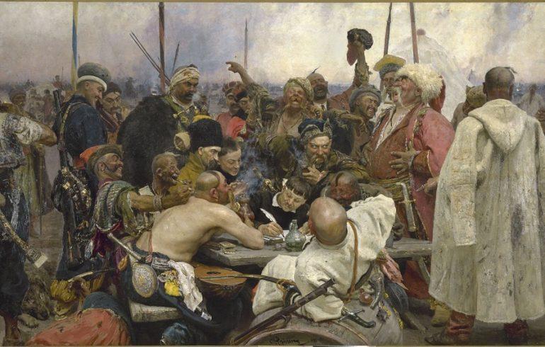 козаки пишут письмо турецкому султану