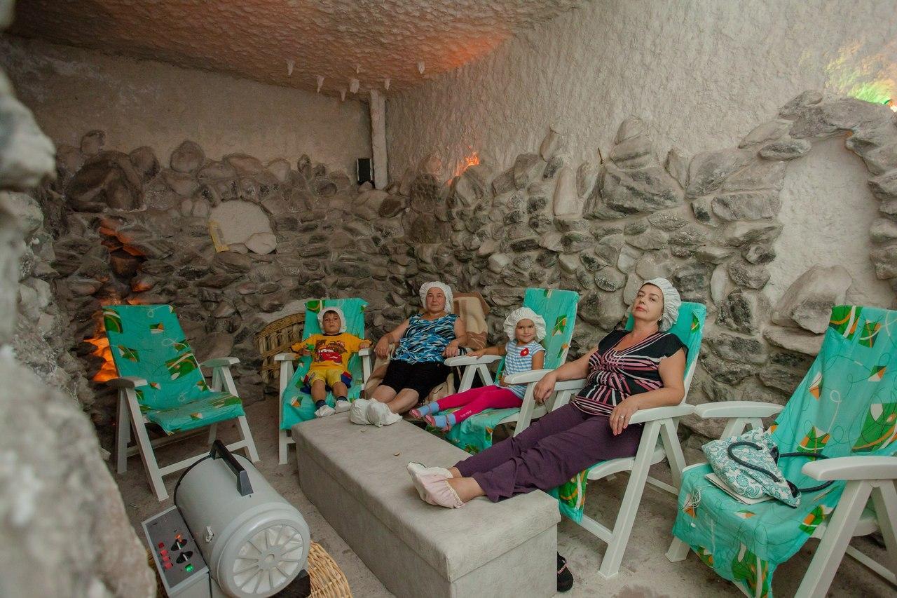 соляная пещера в санатории Червона Калина
