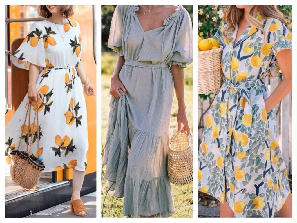 Платья из ткани район