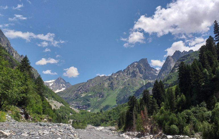 Сванетия горы Кавказского хребта