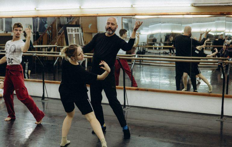 Раду Поклитару на репетиции балета Пиковая дама